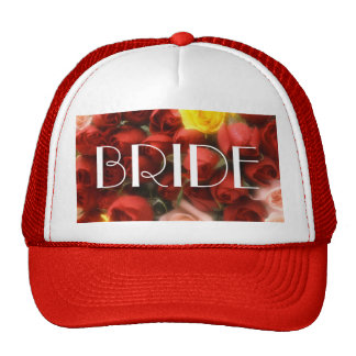Rose Garden Bride Cap [1A] Trucker Hat
