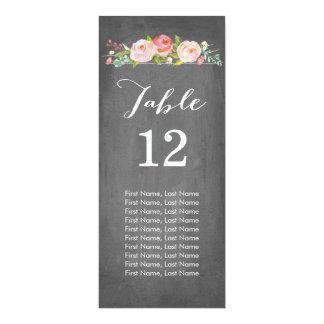Rose Garden Chalkboard Individual Table Cards 10 Cm X 24 Cm Invitation Card
