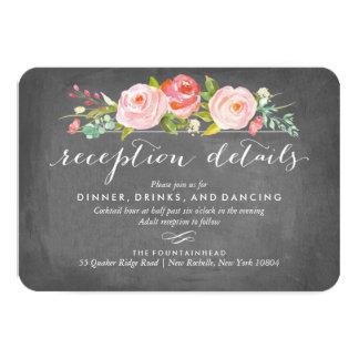 Rose Garden Double-Sided Accommodation Reception 9 Cm X 13 Cm Invitation Card