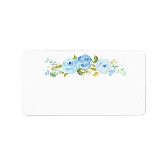 Rose Garden Floral Blank White Address Label