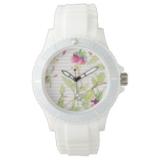 Rose Garden Floral Sporty Silicon Watch
