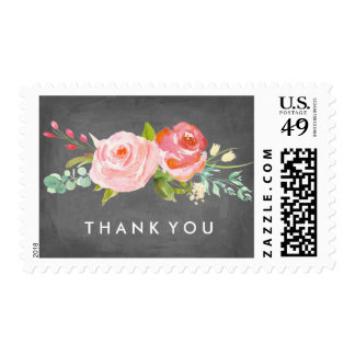 Rose Garden Floral Thank You Postage Stamp