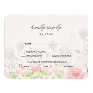 Rose Garden Modern Floral wedding rsvp 11 Cm X 14 Cm Invitation Card