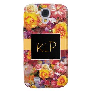 Rose Garden Monogram 3G Phone Case Galaxy S4 Case