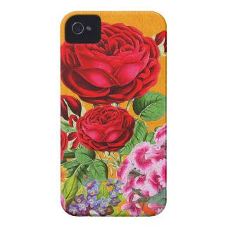 Rose Garden Orange Background iPhone 4 Cover