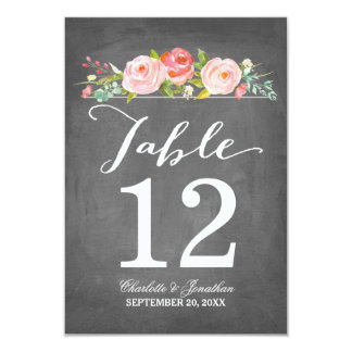 Rose Garden | Table Number Card 9 Cm X 13 Cm Invitation Card