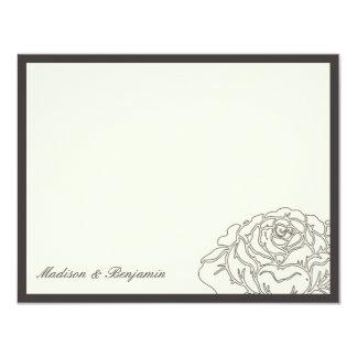Rose Garden Thank You Card - Charcoal 11 Cm X 14 Cm Invitation Card