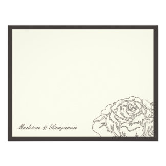 Rose Garden Thank You Card - Charcoal Personalized Announcements