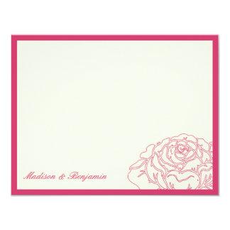 Rose Garden Thank You Card - Pink 11 Cm X 14 Cm Invitation Card