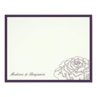 Rose Garden Thank You Card - Purple 11 Cm X 14 Cm Invitation Card
