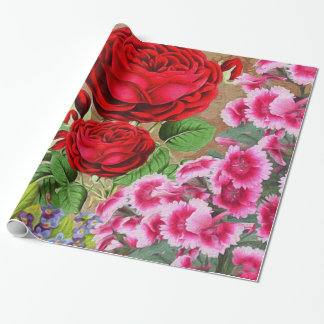 Rose Garden Vintage Wrapping Paper