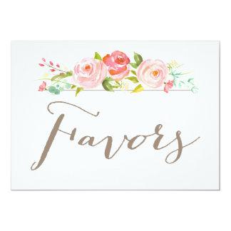 Rose Garden Wedding Favors Sign 13 Cm X 18 Cm Invitation Card