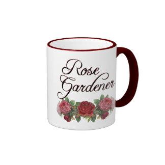 Rose Gardener Saying with Roses Mugs