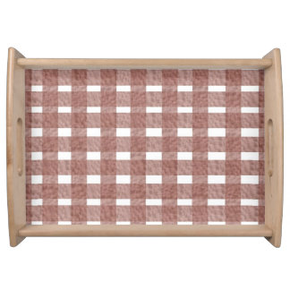 Rose Gingham Lace Serving Tray