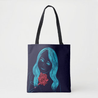 Rose Girl Tote Bag