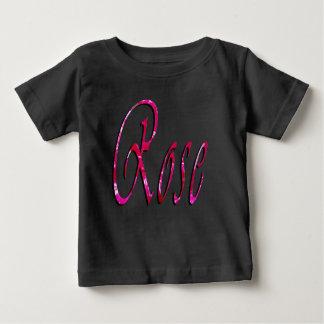 Rose, Girls, Name Logo, Baby's Black T-shirt