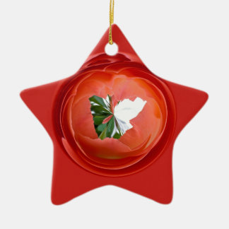 Rose Globe Christmas Ornament