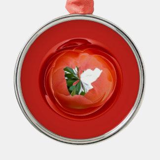 Rose Globe Christmas Ornament