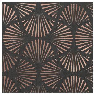 Black And Gold Art Deco Fabric Zazzle Co Uk