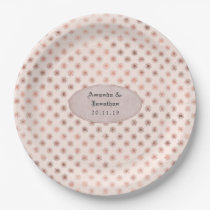 Rose Gold and Blush Foil Wedding Paper Plate