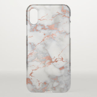 rose gold and gray marble texture iPhone x case