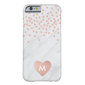Rose gold and marble monogram I phone case