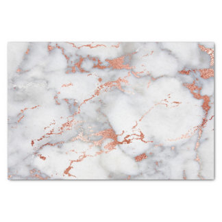 rose gold and white marble stone tissue paper