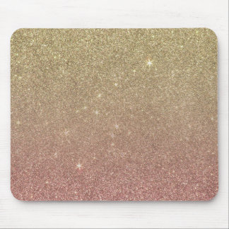 Rose Gold and Yellow Gold Glitter Mesh Mouse Mat