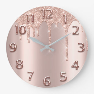 Rose Wall Clocks Zazzle Uk