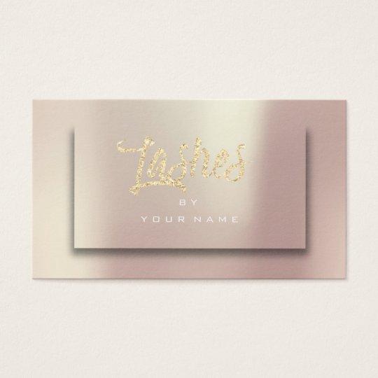 Rose Gold Blush Glitter Typograph Makeup Lashes 3D