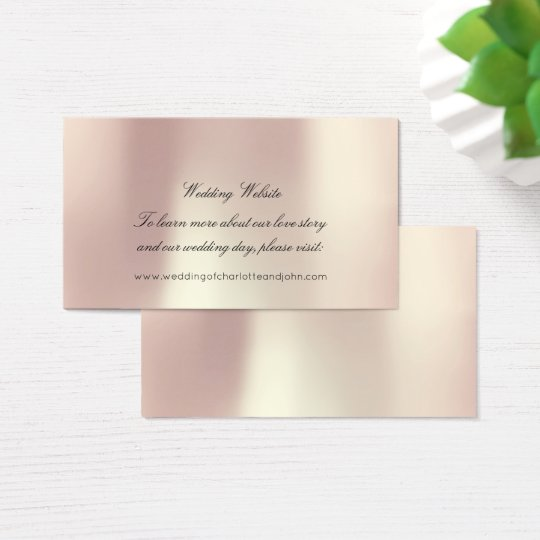 Rose Gold Blush Pearly Delicate Wedding Website Business