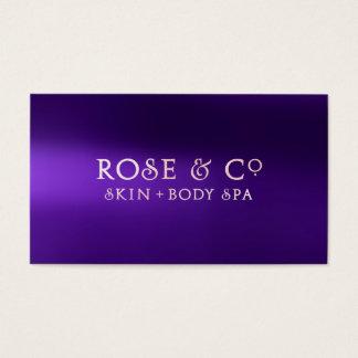 Rose Gold Blush Purple Shadows Glam Amethyst Business Card