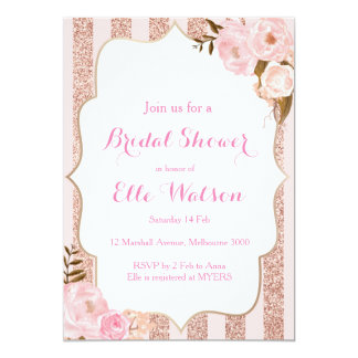 Rose Gold Bridal Shower Invitation