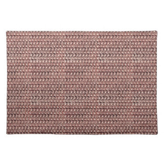 Rose Gold Chainmail Pink Metal Armor Metallic Look Placemat