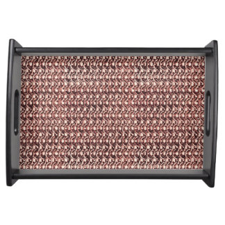 Rose Gold Chainmail Pink Metal Armor Metallic Look Serving Tray