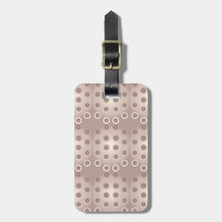 Rose gold circles luggage tag