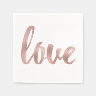 Rose gold cocktail napkins disposable napkin