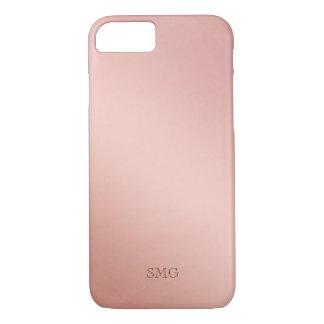 Rose Gold Colored | Custom Initials iPhone 8/7 Case