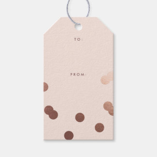 Rose gold confetti | Gift tags Pack of gift tags