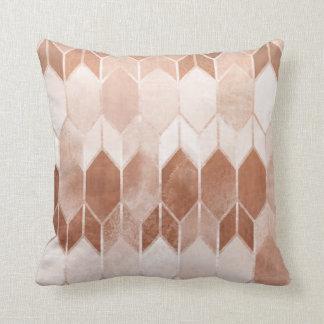 Rose Gold Copper Chevron Cushion