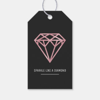Rose Gold Diamond Gift Tags