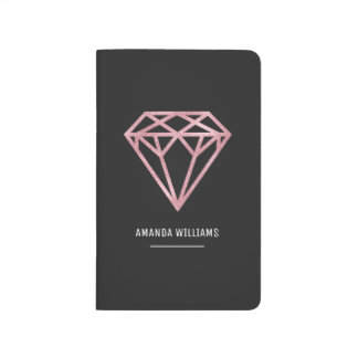 Rose Gold Diamond Journal