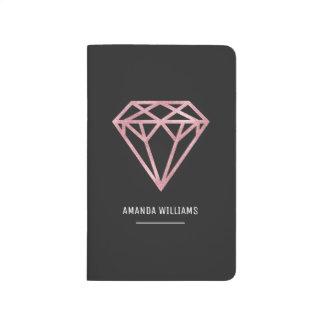 Rose Gold Diamond Journals