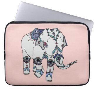 Rose Gold Embellished Elephant Laptop sleeve