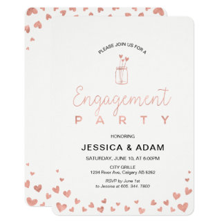 Rose Gold Engagement Party Invitation