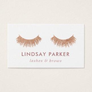Rose Gold Eyelashes Makeup Artist Business Card