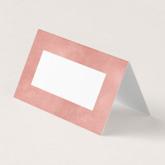 Rose Gold Faux Foil Modern Folded Place Card