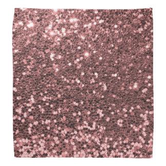 Rose Gold Faux Glitter Bandana