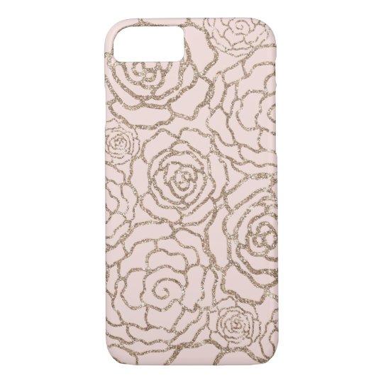 Rose Gold Faux Glitter | Blush Pink Floral