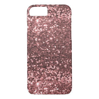 Rose Gold Faux Glitter Sparkle Shine Print iPhone 8/7 Case